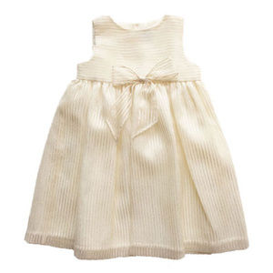 NWT Luli & Me Stripe Cream & Gold Party Dress
